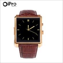Bluetooth Smart Uhr DM08 Smartwatch Luxus Leder IPS Business Armbanduhr tragbare digitale Gerät für IOS Android Smartphone