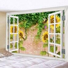 3D Green plant  Printed Large Wall Tapestry Cheap Hippie Wall Hanging Bohemian Wall Tapestries Mandala Wall Art Decor