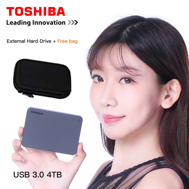 Toshiba Canvio Basics 4TB hd externo Portable External Hard Drive USB 3.0  Black for windows Mac OS disco duro externo 4000GB(China)