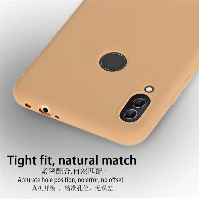 Étui sFor Xiaomi Redmi Note 7 étui en microfibre TPU Silicone liquide doux au toucher pour Redmi Note 7 étui de couverture pour Redmi Note 7