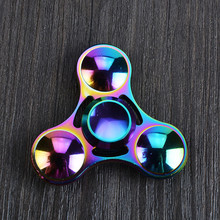 DHL 100pcs/lot Colorful Crystal Fidget Spinner Toys Hand Spinner EDC Tri-Spinner Fingertips Gyro Toy Kids/Adult Anti Stress Toy