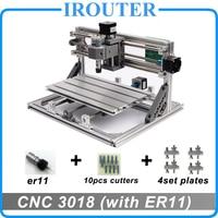 CNC3018 withER11, diy mini cnc graveermachine, lasergravure, Pcb PVC Freesmachine, hout router, cnc 3018, beste Geavanceerde speelgoed