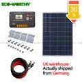 100 W 18 V policristalino Panel de energía Solar con 20A CMG temperatura controlador 5 m cables para 12 V sistema de cargador de batería