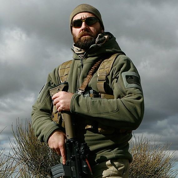 Authentic Helikon Winter Patriot Heavy Fleece Jacket Bl