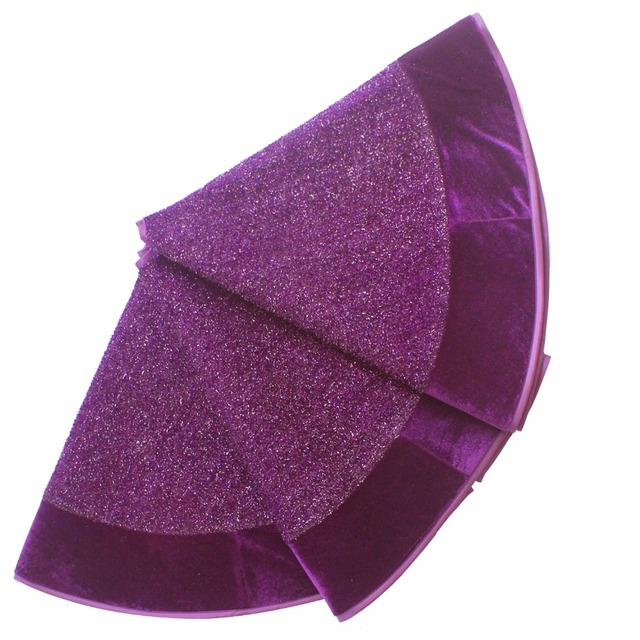 Us 21 99 Free Shipping 50 36 Boucle Shiny Glitter Luxury Christmas Tree Skirt Purple Color P4653 In Tree Skirts From Home Garden On