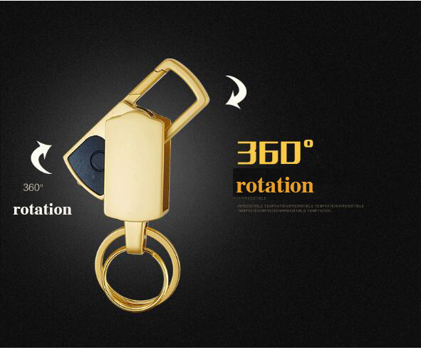Llavero de lujo Con Abrebotellas Luces LED Llavero doble Llavero de - Accesorios de interior de coche - foto 5