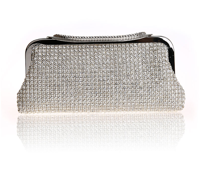 2017 Promotion Sale Frame Women Wedding Clutches Bag Crystal Evening Bags Party Purses Small Handbag Clutch SFX A0255 in Top Handle Bags from Luggage Bags