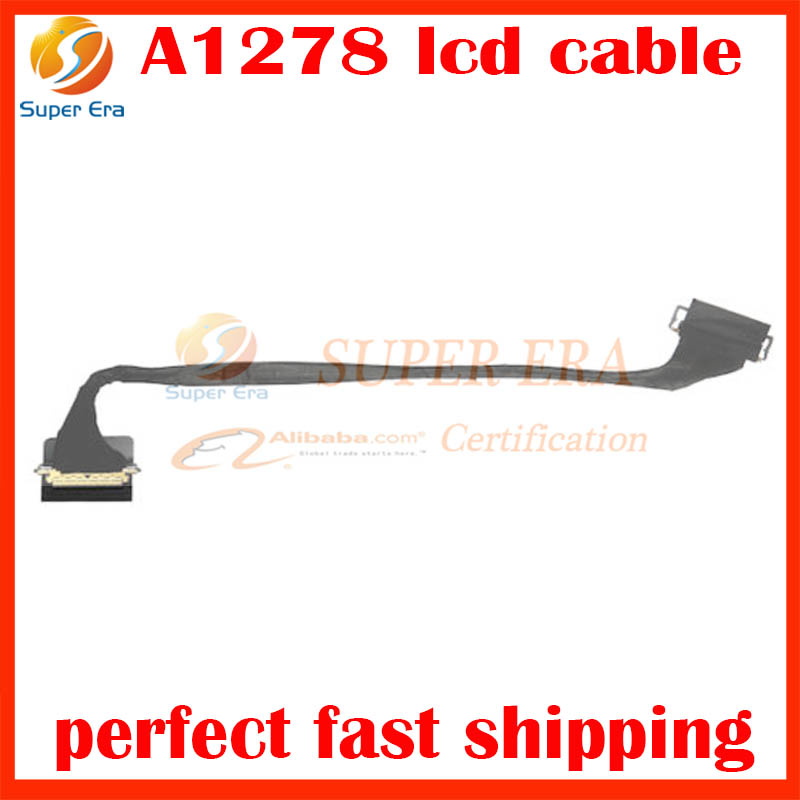Genuine New Laptop A1278 LVDS LCD LED Flex Cable Connector for Macbook Pro 13 Unibody A1278 2011 2012 EMC 2419 EMC 2555 EMC2554 isight camera wifi antenna cable for macbook pro 13 a1278 isight camera wifi airport flex cable 2011 2012year 818 1821 a