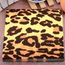 Леопардовый событие дикий бумажные кафе личность салфетки поставки шт./упак. партия ткани