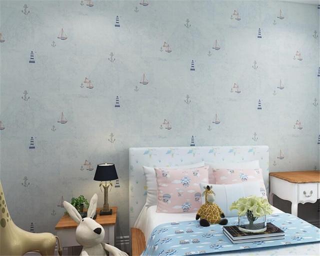 Behang Voor Kinderkamer : Mediterrane stijl d behang kinderkamer decoratieve behang oceaan