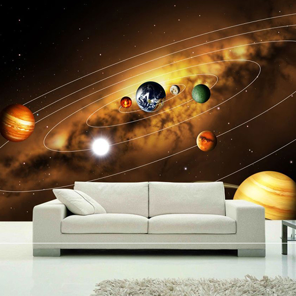 Large Custom Wall Mural 3d Ceiling Murals Wallpaper Blue Sky Stars
