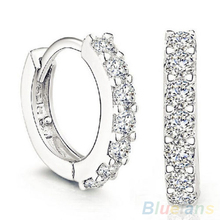 Hot Fashion Jewelry White Crystal Earrings 1OYK