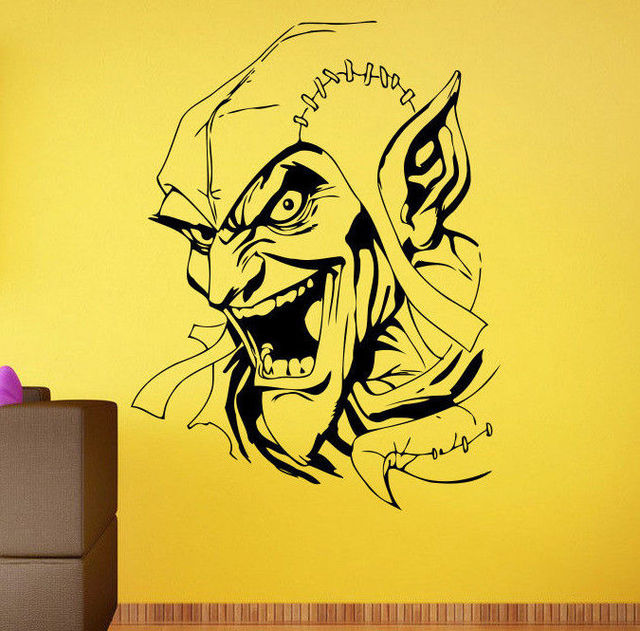 Wall Decal Green Goblin Comics Hero Vinyl Sticker Kids Room Home Art ...