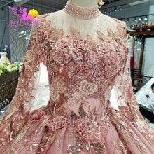 Aijingyu 슬림 웨딩 드레스 골동품 가운 지방 뜨거운 네덜란드 진짜 가격 가운 파티 빈티지 inspinew 웨딩 드레스