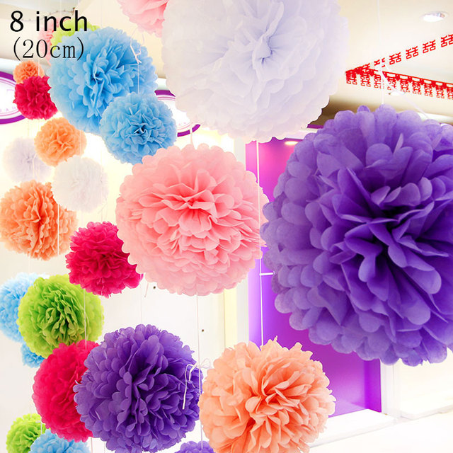 2pclot 8 inch colorful paper flowers ball valentines daykids 2pclot 8 inch colorful paper flowers ball valentines daykids birthday party flags mightylinksfo