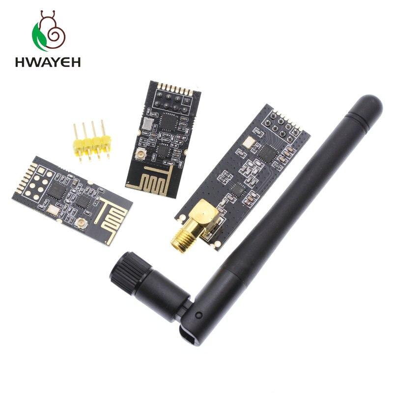 1 ensembles promotions spéciales 2.4G modules sans fil 1100 mètres longue Distance NRF24L01 + modules sans fil PA + LNA (avec antenne)