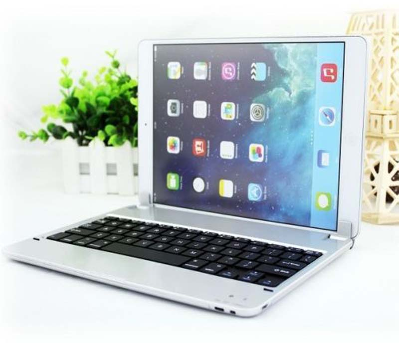 Silm Aluminum Wireless Bluetooth Keyboard Case For iPad Air 1 2 for Ipad 5 Ipad 6 Wireless Bluetooth Keyboard Case