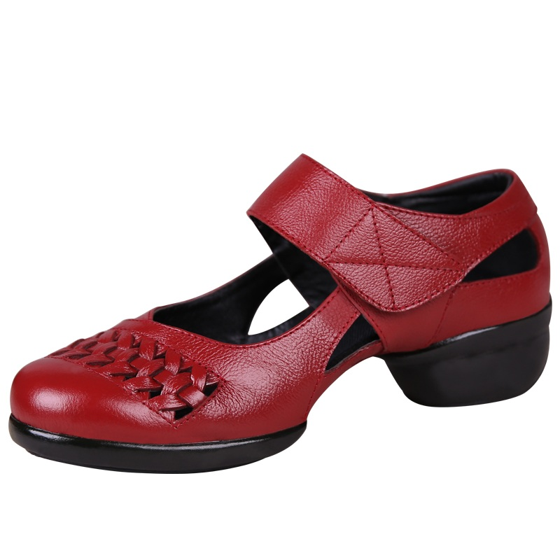 Square Modern Dance Shoes Woman With Soft Bottom Leather Shoes Women Sandals Bottom Sneakers Dancing Shoes for women