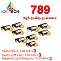 9x Замена для 789 печатающей головки для hp 789 Замена совместима для принтера hp 789 DesignJet L25500