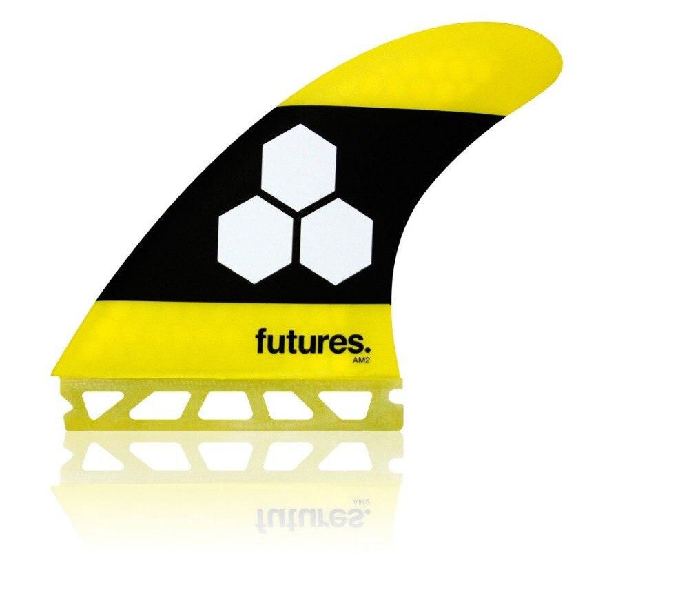 Futures Fins AM2 Honeycomb Tri Fin Set YELLOW