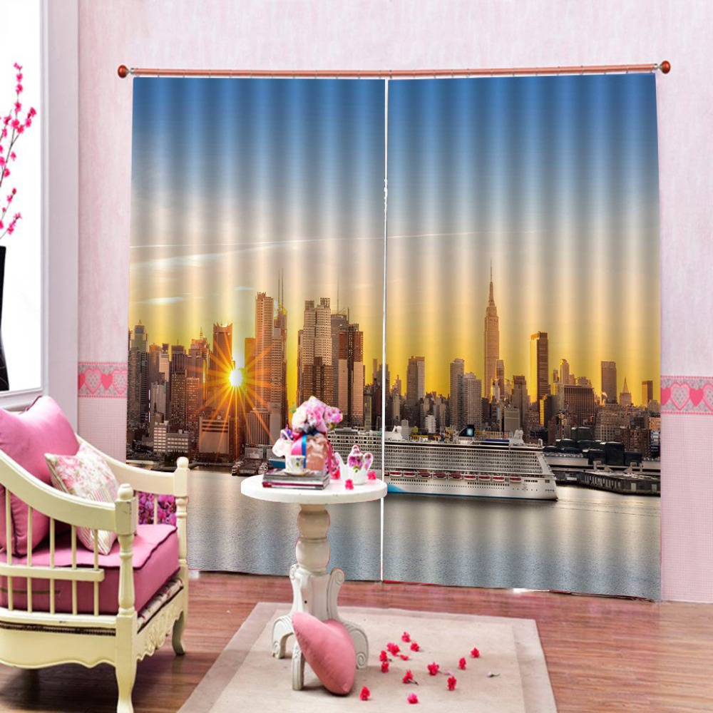 3D Curtains Window Sun city Blackout Wedding Living Room Bedroom Hotel Window Curtains The New        3D Curtains Window Sun city Blackout Wedding Living Room Bedroom Hotel Window Curtains The New