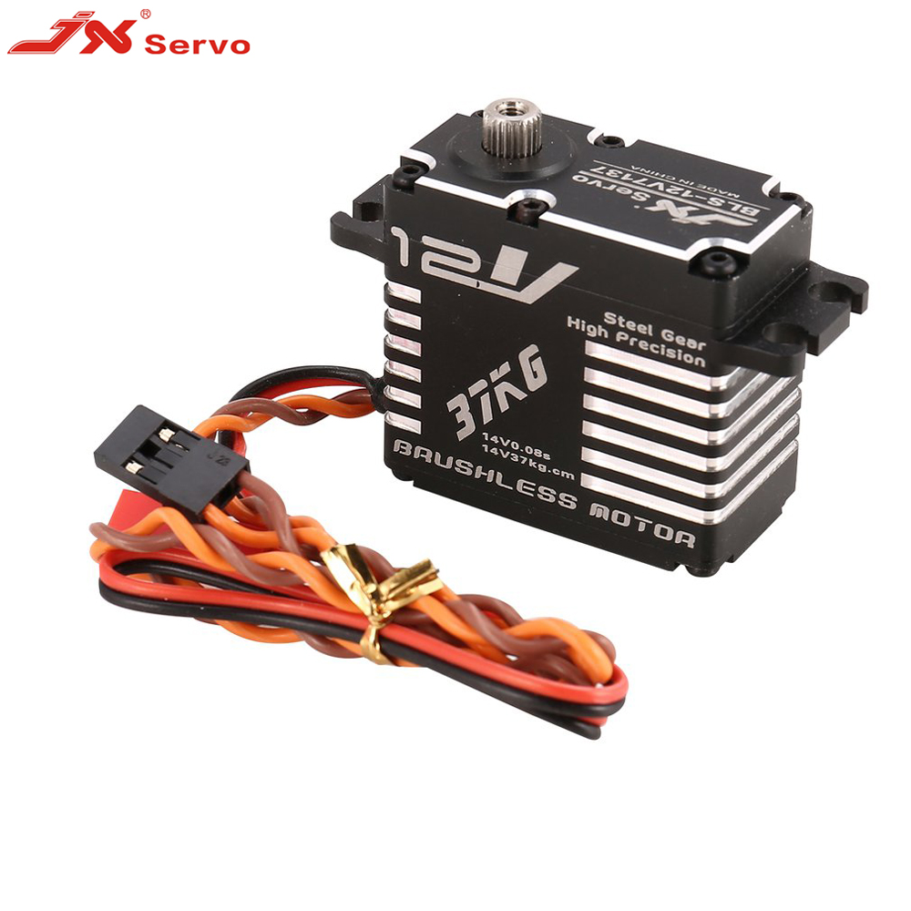 Servo sans brosse de vitesse numérique de direction en métal de JX BLS-12V7137 37 KG avec la tension de couple élevée de 12 V HV pour le Drone de Robot de voiture de RC