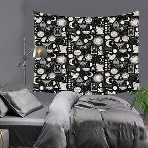 Image 5 - Cilected siyah ve beyaz korku kafatası goblen ev mobilyası duvar asılı Polyester masa örtüsü battaniye plaj havlusu Mat 9 renk