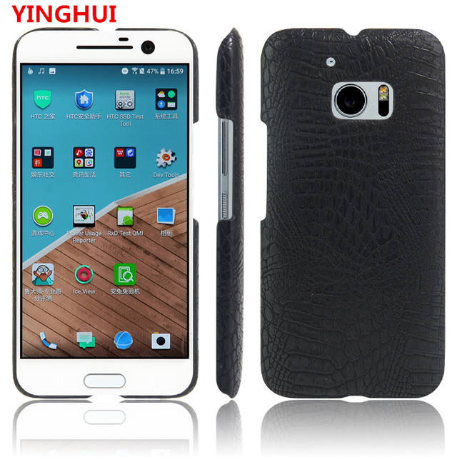 save off f449c 66583 US $2.63 12% OFF|For HTC M10 Case Luxury Crocodile Skin pattern PU leather  Case For HTC 10 M10 fashion Phone Case Back Cover-in Half-wrapped Cases ...