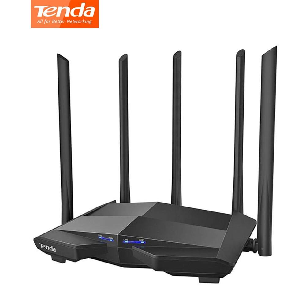 Brandnew tenda ac11 gigabit roteador sem fio de banda dupla ac1200 wifi repetidor com 5 * 6dbi antenas de alta cobertura mais ampla fácil configuração