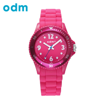 Odm top luxury brand quartz silicone watch women casual with colorful strap relojes mujer marca de.jpg 200x200
