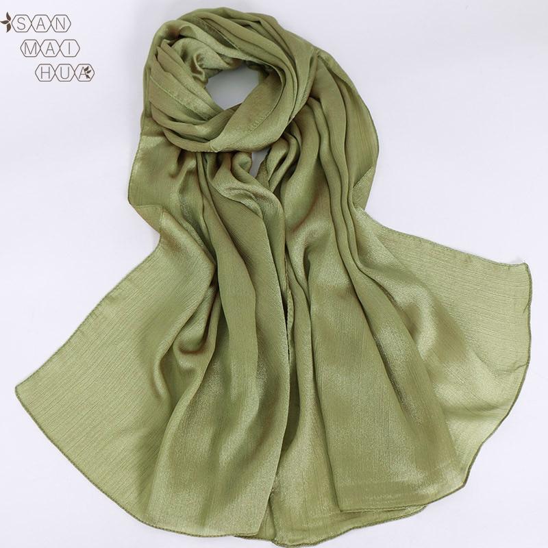 70*180cm Malaysia Women Muslim Satin Silk Hijab Scarf Femme Musulman Headscarf Islamic Hijab Shawls Wraps