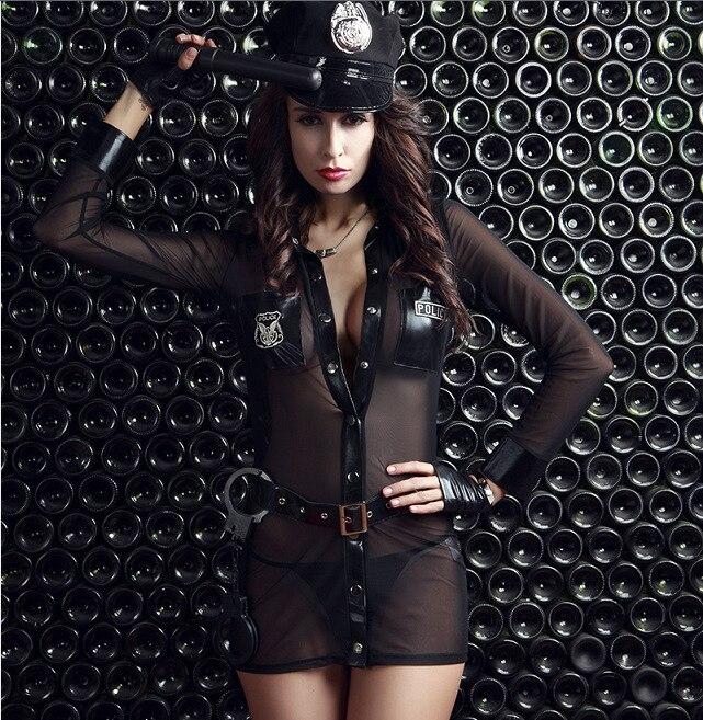 3 pcs/lot femme Police Costume Sexy policière uniforme Cosplay Sexy érotique Lingerie Police Costumes pour femmes Sexy sous-vêtements - 3