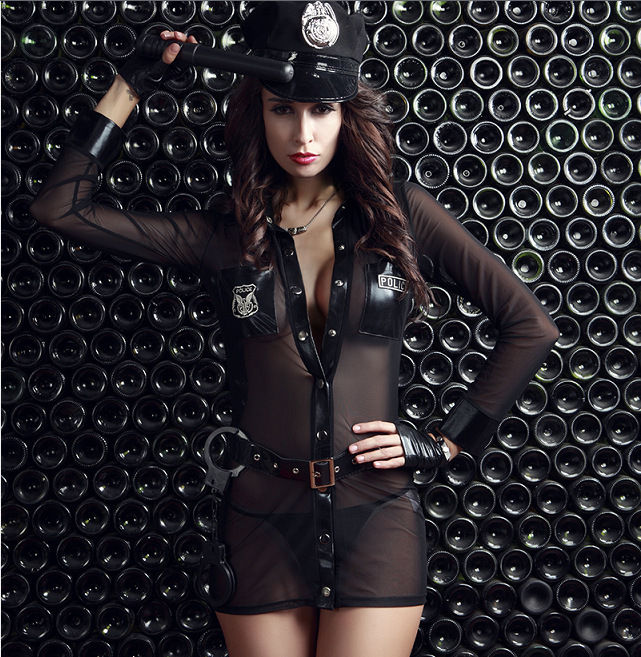 3pcs lot Woman Police Costume Sexy Policewoman Uniform Cosplay Sexy Erotic Lingerie Police Costumes for Women Sexy Underwear in Sexy Costumes from Novelty Special Use