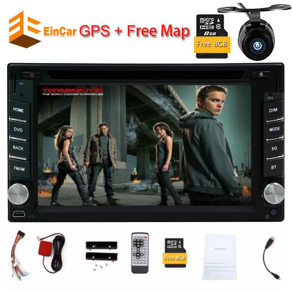 6.2 Inch Car Radio Touch Screen Double  din Car DVD Player car-styling Stereo gps tracker with Free Map Card Free Rear Camera 9 inch car headrest dvd player pillow universal digital screen zipper car monitor usb fm tv game ir remote free two headphones