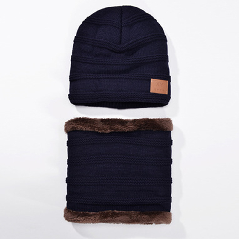 ec6a6152cb7 ... Unisex winter warm knitted beanie cap with scarf soft beanies hat with  cashmere inside women warm ...