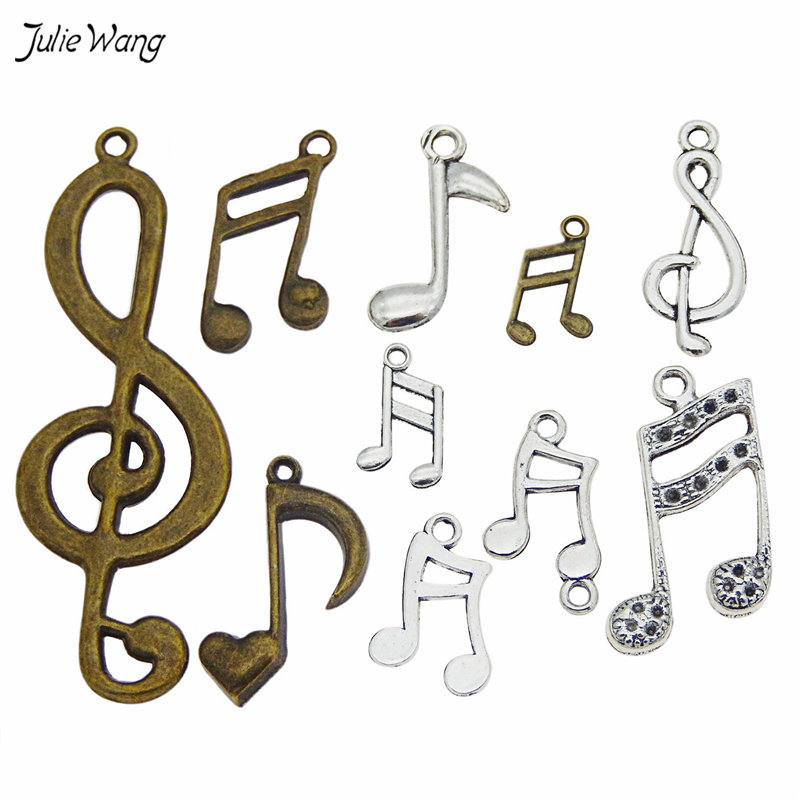 mixed Music Notes Pendant Charms Music Jewelry -3