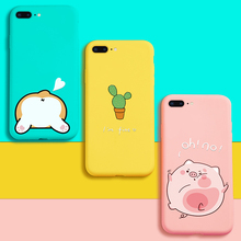 ASINA Silicone Case For iPhone 8 Plus Case Cute Animal Cartoon 3D Relief Cover Bumper For iPhone 6 6s 7 8 Plus X Phone Case