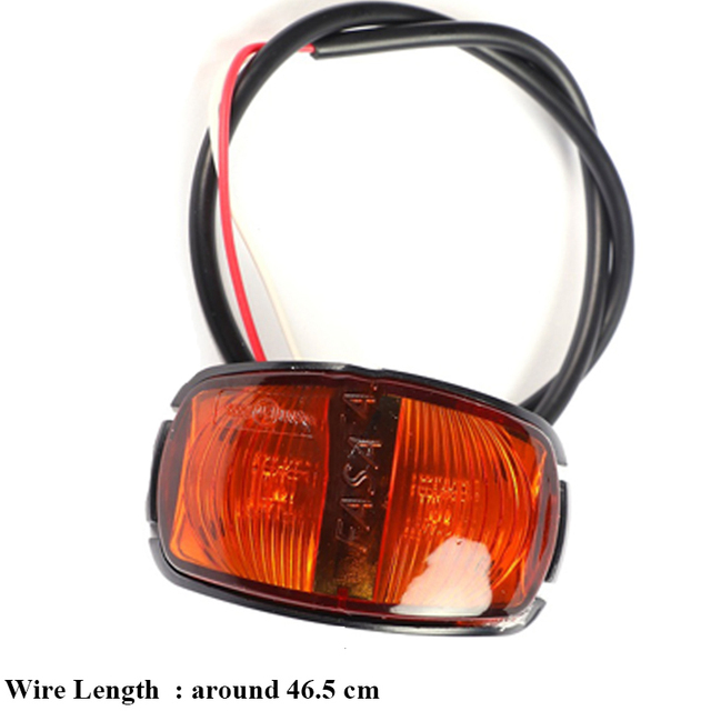 1 piece Trailer LED  Side Marker Lights 24V 0.6W  Truck Rear Lamp Car accessory Lamp lorry Auto Signal lamps Caravan Indicator