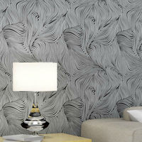 Modern Solid 5 Colors Abstract Geometric Textured Striped Wallpaper 3D Embossed Wall Paper Rolls Home Decor