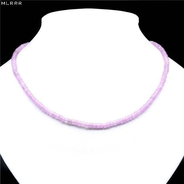 Joyería clásica de piedra Natural de liquidación hecha a mano simplemente rosa púrpura amatista cristales cuentas cadena collar