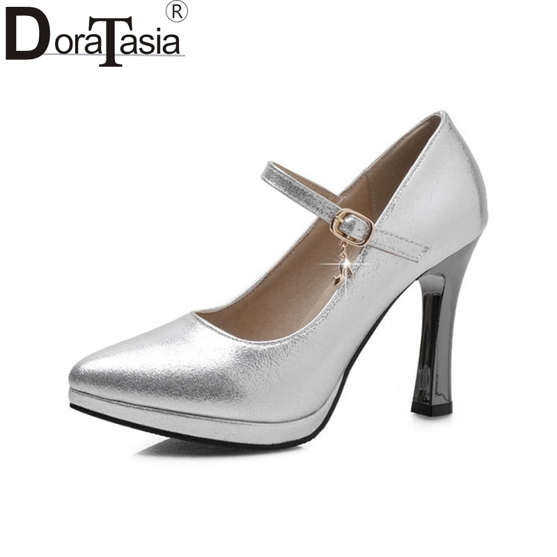 DoraTasia Women Mary Jane Pumps Party Wedding Shoes British Pointed Toe High Heels Spring Summer Autumn Shoes Platform Pumps mary sterling jane algebra ii essentials for dummies