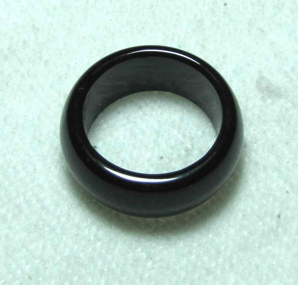 ร้อนขายโนเบิล-จัดส่งฟรี>>>@@จีนธรรมชาติสีดำหยกมือแกะสลักแหวนวงขนาด10 # fast A