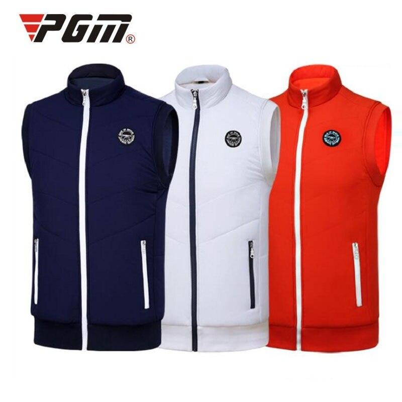 Golf Jackets Mens Outdoor Sport Waistcoat Sportwear Winter Warm Golf Vest With Fleece Waterproof Sleeveless Jackets D0510
