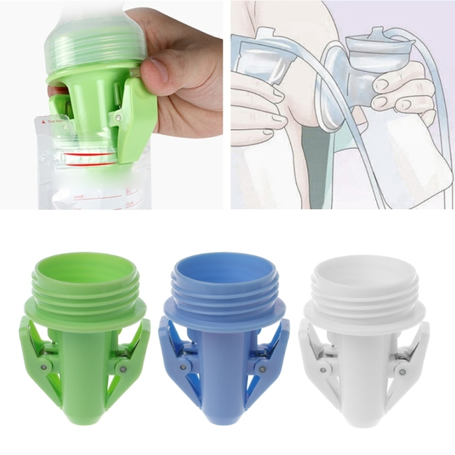 T Pumps Accessories Baby Feeding Portable Milk Storage Bags Clip Adapter For Wide Pump