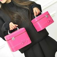 ポータブルポータブル化粧品整形収納袋バッグ防水フェイクレザーの女性のハンドバッグ