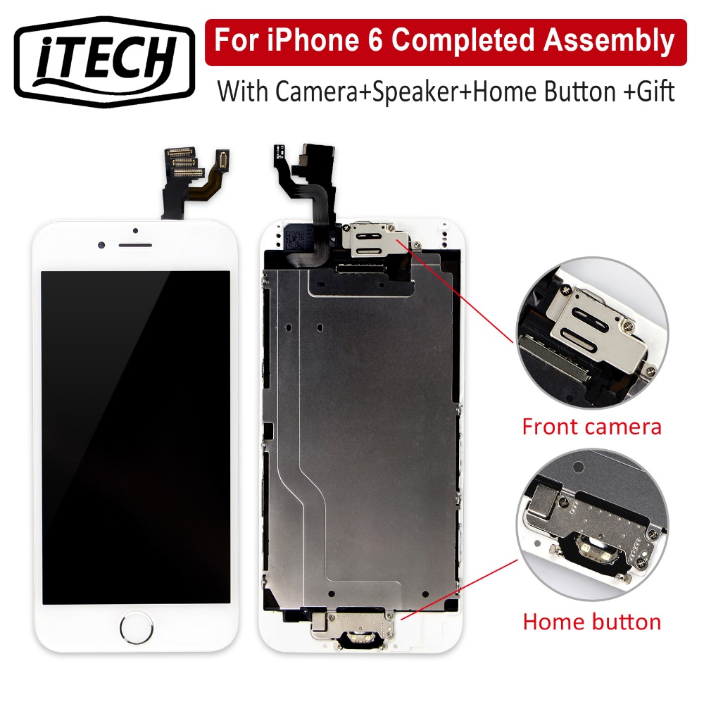 Grade AAA+++ Full Assembly For iPhone 6 6S Plus LCD Completed 3D Touch Screen Replacement Display With Camera Home Button