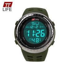 TTLIFE Business Brand Men Digital Watch Fashion Electronic Sports LED Wristwatch 50m Waterproof PU Clock Horloges Mannen TS10