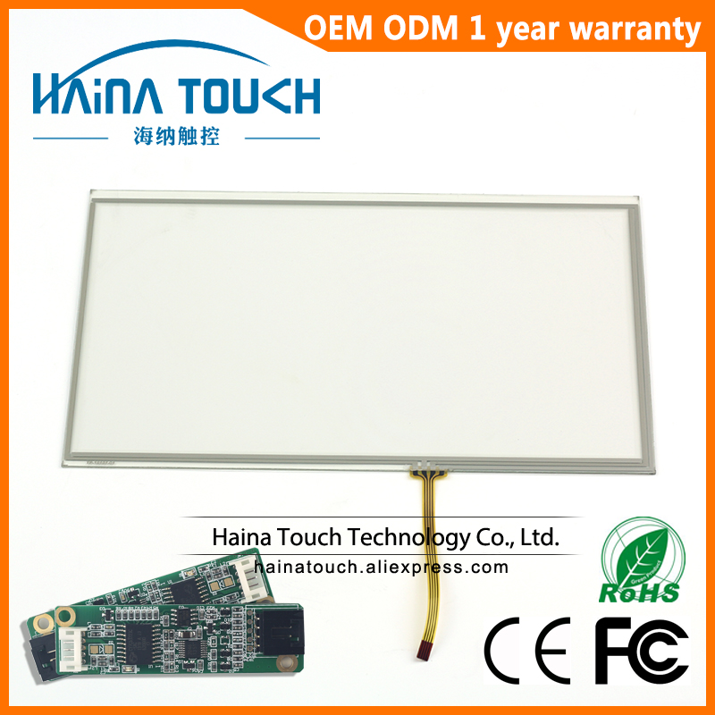 16:9 10.1 inch includes USB Controller 4 Wire USB Resistive Touch Screen includes