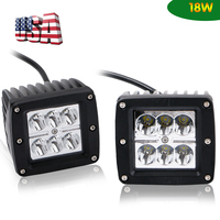 2pcs 3x3 Inch Spot Led Pods Cube Fog Lights Off Road Work Lights With A Pillar