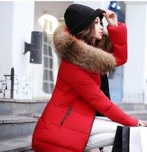Winter Jacket Women 2016 Long Duck Down Jackets Super Large Fur Collar Parka Plus Size Ladies Slim Thickening Cotton-padded Coat